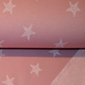 Happy fleece stars - pink
