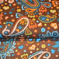 Paisley Party - Babyrib - Brown